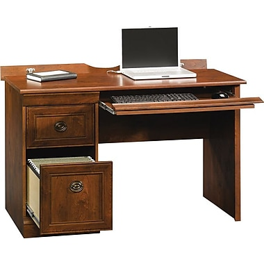 409331 Arbor Gate Mobile Lifestyle Computer Desk, Cherry | Staples