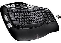 Logitech K350 Curved Wireless Keyboard, Black