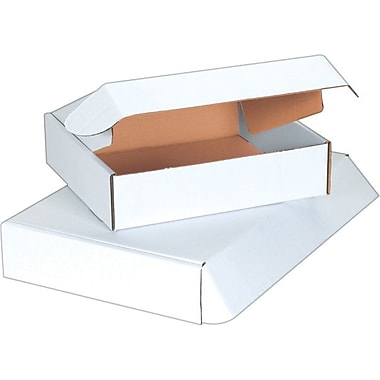 Staples White Deluxe Literature Mailers 11 1/8in. x 8 3/4in. x 2in.