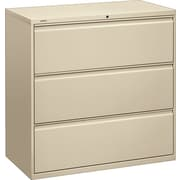 HON® Brigade™ 800 Series Lateral File Cabinet, 42 Wide, 3-Drawer, Putty