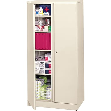basyx™ by HON Easy-to-Assemble 72in. High, 5- Shelf Storage Cabinet, Putty