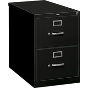 HON S380 Series 26 1/2 D Vertical File Cabinet, Legal Size, Black