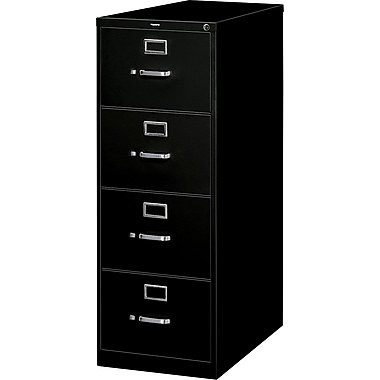 Hon® S380 Series 4-Drawer Vertical File Cabinet, Black, Legal (HS384CPP)