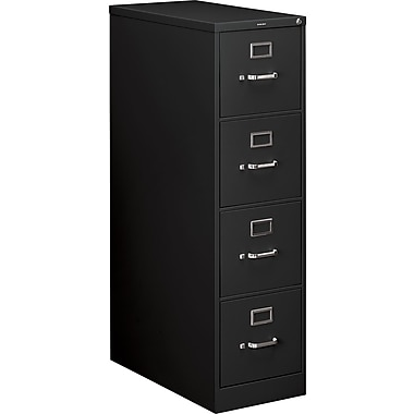 HON 210 Series Vertical File Cabinet, 28 1/2in. 4-Drawer, Letter Size, Black