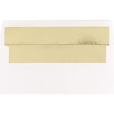 Great Papers® Gold Lined White #10 Envelopes, 50/Pack