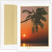 Great Papers® Palm Tree Photo Holiday Card with White Gold Foil Envelopes