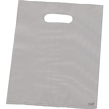 High-Density Merchandise Bag, Gusseted, Clear-Frosted, 14