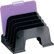 Staples Black Recycled Plastic Desk Collection, Large Incline Sorter