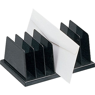 Staples® Black Plastic Desk Collection, (Recycled) Vertical Sorter