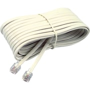 Softalk® Telephone Line Cord, Ivory, 25 ft
