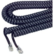 Softalk® Telephone Coil Cord, Black, 12 ft