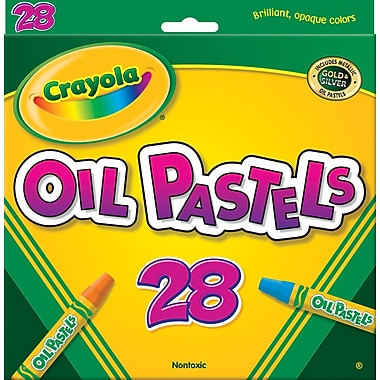 Crayola® Oil Pastels,28-Color Set, Assorted, 28/Pack