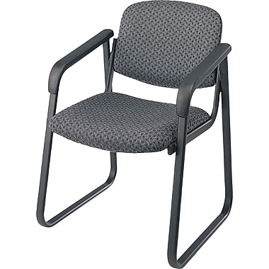 Office Star  Deluxe Sled Base Guest Chair with Arms, Onyx