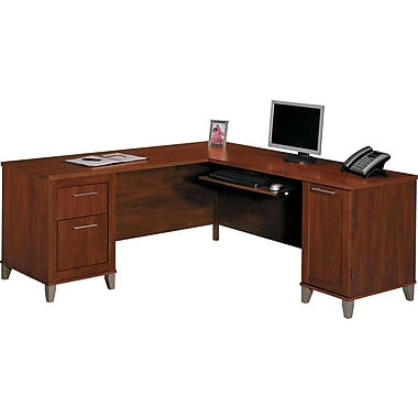 Bush Furniture Somerset 71W L-Desk, Hansen Cherry