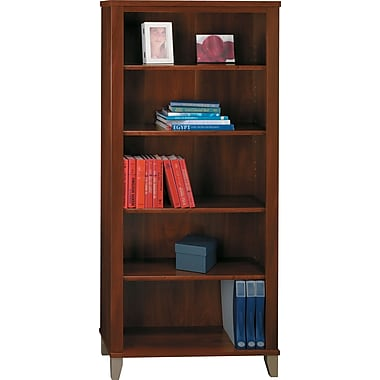 Bush Furniture Somerset 5 Shelf Bookcase, Hansen Cherry