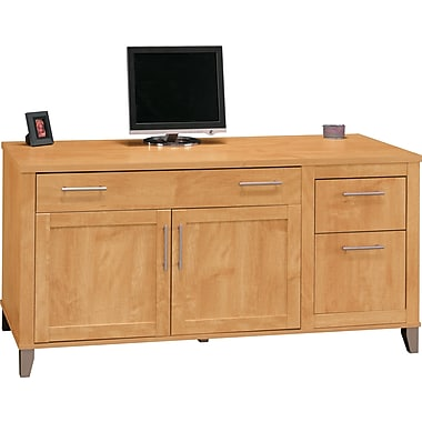 Bush Furniture Somerset 60W Credenza, Maple Cross