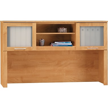 Bush Somerset  60in. Compact Hutch, Maple Cross Finish