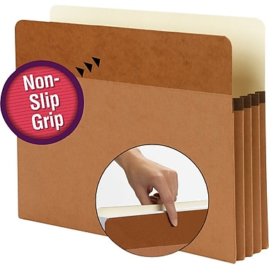 Smead® Easy Grip Pockets Expanding File, Letter, 3 1/2in. Expansion, 25/Box