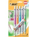 BIC® Velocity Mechanical Pencil, 0.9mm, Assorted Barrel, 5/Pack