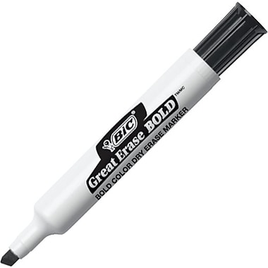 BIC® Great Erase® Bold Dry Erase Marker, Chisel Tip, Assorted, 12/Pack