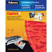 Fellowes® 52017 Laminating Glossy Pouches File Card, 5 mil