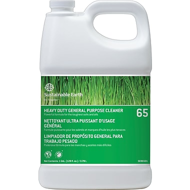 Sustainable Earth by Staples® Heavy-Duty General Purpose Cleaner/Degreaser #65, 1 gal.
