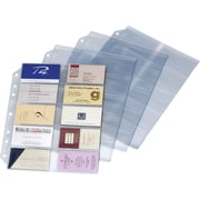 "Cardinal® Poly Business Card Refill Page, 200 Card Capacity, 11"" x 8 1/2"", 10/Pk"