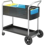 "Safco 40 3/4""H x 22 1/2""W x 39 1/2""D Scoot Mail Cart, Black (5239BL)"