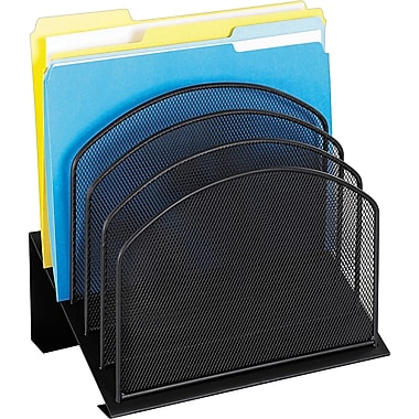Safco® Onyx Mesh 5-Section Incline Organizer