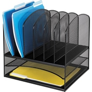 "Safco® Onyx Mesh 2 Horizontal/6 Upright Section Organizer, 13""H x 13 1/2""W x 11 1/2""D (3255BL)"