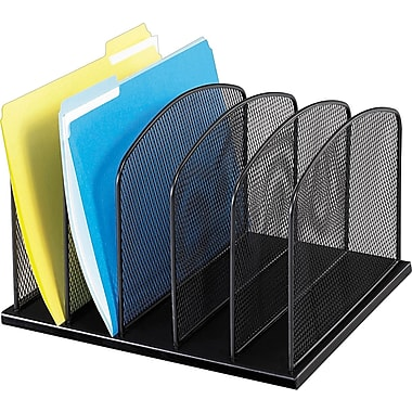 Safco® Onyx Mesh 5-Section Upright Organizer