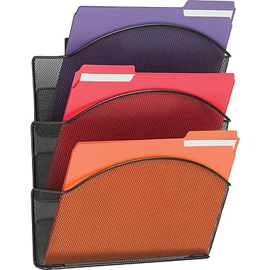 SAFCO Onyx Mesh Wall Files Letter Size- Triple Pocket