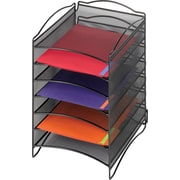 Safco® Onyx™ Steel Desktop Organizer, 6 Compartment