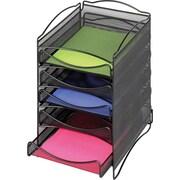 Safco Steel Desktop 5 Drawer Organizer, Onyx Mesh (9432BL)