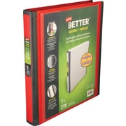 1 Staples® Better® View Binder with D-Rings, Red