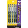 Pilot Precise® P700 Gel-Ink Rolling Ball Pens, Fine Point, 0.7 mm, Black, 5/Pack