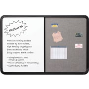 Combo Dry Erase/Fabric Board, Blow Mold Frame, 66 x 42 - Black