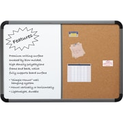 Combo Dry Erase/Cork Board, Blow Mold Frame, 36 x 24 - Charcoal