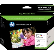 HP 75 Tricolor Ink Cartridge w/ Photo Value Pack (CG501AN)