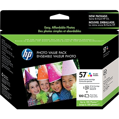 HP 57 Tricolor Ink Cartridge w/ Photo Value Pack (Q7926AN)
