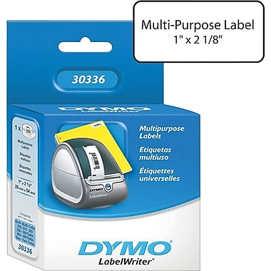 Dymo LabelWriter® Label Printer Labels, Multipurpose Label, 2-1/8in.