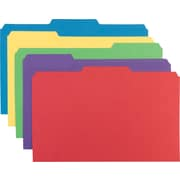 Staples® Heavyweight Colored File Folders, Legal, 3 Tab, 50/Box