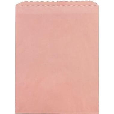 "Flat Paper Merchandise Bags, 6-1/4"" x 9-1/4"", Petal Pink"