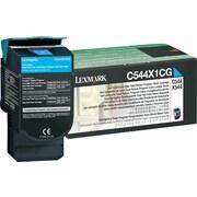 Lexmark™ – Cartouche de toner laser haut rendement C544X1CG, cyan