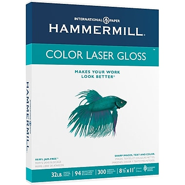 Hammermill® Color Laser Gloss Paper, 8 1/2in. x 11in., Ream