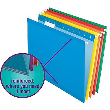 Staples® Colored Reinforced Hanging File Folders
