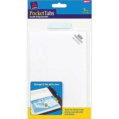 Avery® PocketTab™ 1/2 Page, 5-1/8