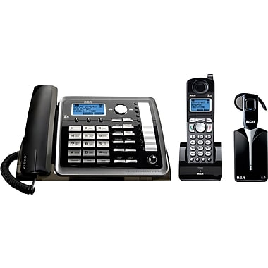 RCA TC25270RE3 2-Line Corded/Cordless Phone with Headset and Answering System