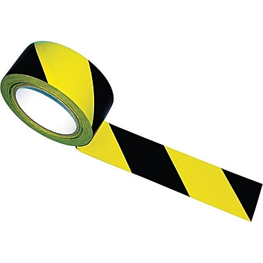 Tatco Hazard Marking Aisle Tape, 2in. x 108 ft. Roll