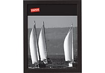 Staples® Wood Frame, 8-1/2' X 11', Black